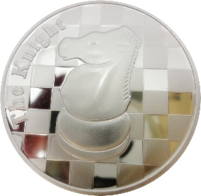 The Knight - 1 Troy Oz .999 Silver Round Chess Coin - 1 9/16
