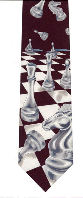 Chess Tie - Black /White Chess Board