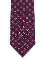 Men's Dress Tie - Card Suits - Navy