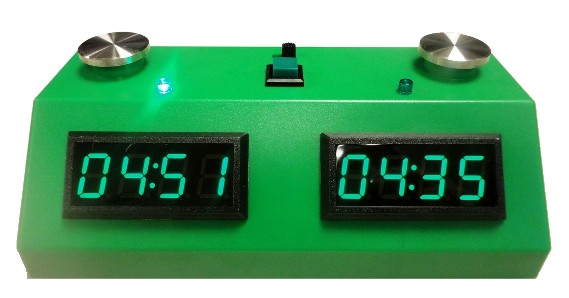 Zmart Fun ZMF-II Digital Chess Clock - Green LED Display / Green Case