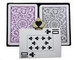 COPAG 1546 Purple & Gray -  Jumbo Index -  Poker