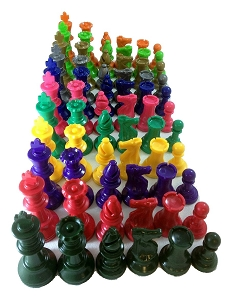 Color - Club Special Chess Sets - 2 Sides - Color Choice!