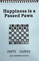 Happiness is a passed Pawn Blue Softcover Scorebook