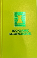 Chartreuse Yellow Chess Hardcover Scorebook