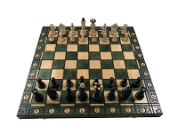 Senator Chess Set - Green -16