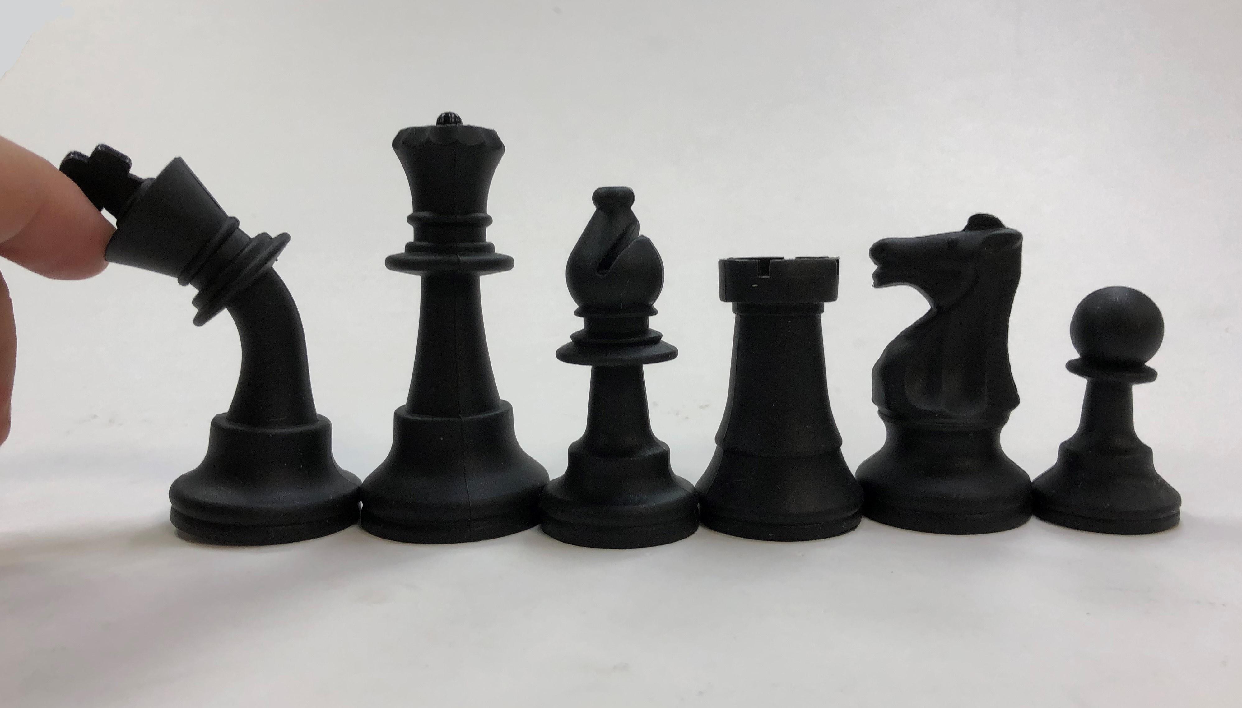 Silicone Club Chess Set - Full Size 3 3/4 in.King - Washable