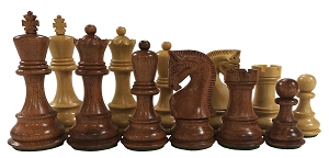 Olde Russian Babul Wood Chess Set - 3.75