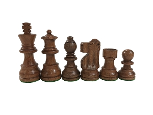 Medium Wood Analysis Chess Set - 4 Queens - 3 in.King