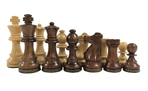 Standard Staunton Sheesham Wood Chess Set - 3 3/4