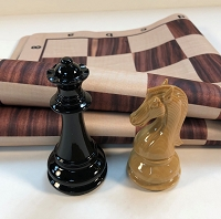 Woodtek Wood Grain Weighted Chess Set & Floppy Board Combo