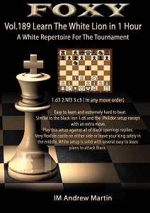 Foxy Chess 189  White Repertoire in 1 Hour