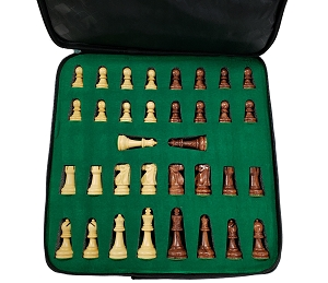 Ultimate Anjun Wood Chess Set - 4X Weight - 4 Queens - 3 3/4 in.King