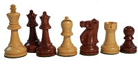 Ultimate Anjun Wood Chess Set - Quadruple Weight - 4 Queens - 3 3/4