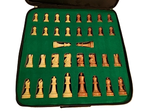 The Ultimate Chess Set in Wood 3X Weight - 4 Queens - 3 3/4 in. King