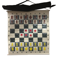 Chess Demo Board - 27 in. X 32 in. Instructor Chess Board - 3 in. Sq - pieces included