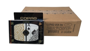 COPAG 1546 - Black & Gold - 12 Dual Decks -  Super Index  - Poker
