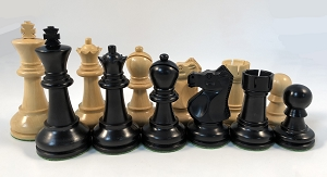 "Ebonized Ultimate Staunton Chess Pieces – 3.7"" King - Heavily Weighted Chess Set"