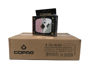 COPAG 1546 - Green & Burg. - 12 Dual Decks - Super Index - Poker