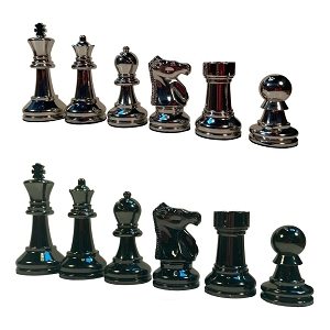 Bobby Fischer® Metal Ultimate Chess Pieces – 3.75 inch King – Weighs over 9.5 lbs