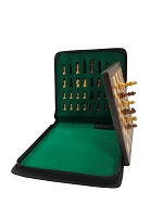 Small Babul Wood Magnetic Travel Chess Set - 7 3/4 x 7 3/4