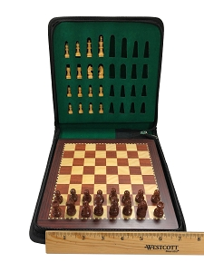 Small 7 3/4 Wood Magnetic Travel Chess Set