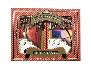 Souvenir Bridge Playing Cards - Ace 100% Plastic - Regular Index