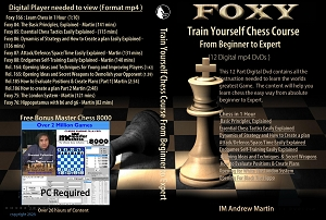 Train Yourself Chess Course - Beginner to Expert (12 Digital DVDs) Download or Disk