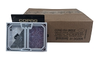 Poker UNIQUE Purple & Cool Gray - 12 Dual Decks - Regular Ind - COPAG