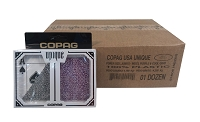 Poker UNIQUE Purple & Cool Gray - 12 Dual Decks - Super Index - COPAG