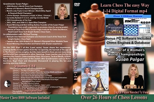 Learn Chess the Easy Way (14 Digital DVDs) Download or Disk