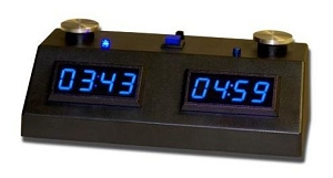 Z MART ZMF-II Digital Chess Clock: Blue LED Display /w Black Case