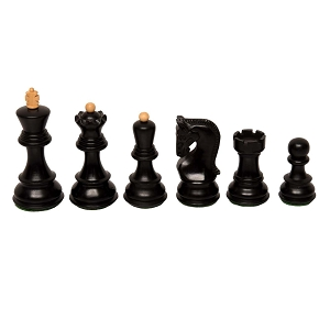 "Zagreb - Ebonized - Wood Chess pieces – 3.7"" King"