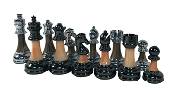 Classic Staunton Acrylic & Metal Heavy Chess Pieces - 3 1/2