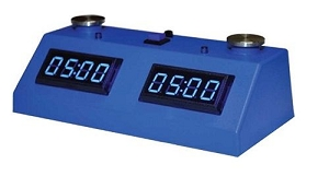 Z MART ZMF-II Digital Chess Clock: Blue LED Display /w Blue Case