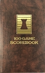 Brown Chess Hardcover Scorebook