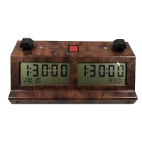 Visual Tek V-TEK-300 Digital Chess Clock - Burl
