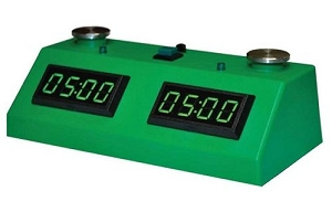 Z MART ZMF-II Digital Chess Clock: GreenLED Display /w Green Case