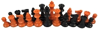 Orange & Black Chess Set