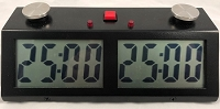 Zmart Pro Digital Chess Clock - Metal Case - Black