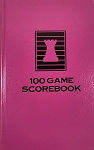 Raspberry Chess Hardcover Scorebook