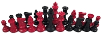 Red and Black Chess Set
