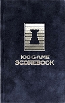 Saphire Velour Chess Hardcover Scorebook