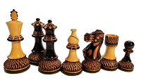 Trudeau Burnished Wood Chess Set - 4 Queens - Weighted - 4