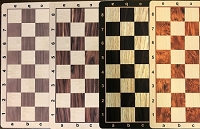 Chess Board - Wood Grain Floppy Mousepad  - 2 1/4