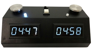 Z MART ZMF-II Digital Chess Clock: White LED Display /w Black Case