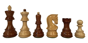 "Zagreb - Acacia - Wood Chess pieces – 3.7"" King"