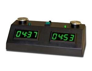 Z MART ZMF-II Digital Chess Clock: Green LED Display /w Black Case