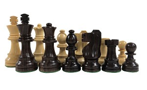 Staunton Chess Set - Rosewood Pieces - Tournament Size - Weighted