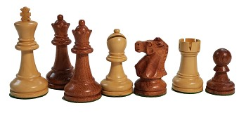 "Ultimate Babul Wood Chess Set - Triple Weight - 4 Queens - 3 3/4"" King"