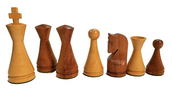 "Modern Babul Wood Chess Set - 4 Queens - 3X Weighted - 4"" King"